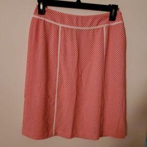 Jones Wear Pink/White Polka Dot Skirt - 8